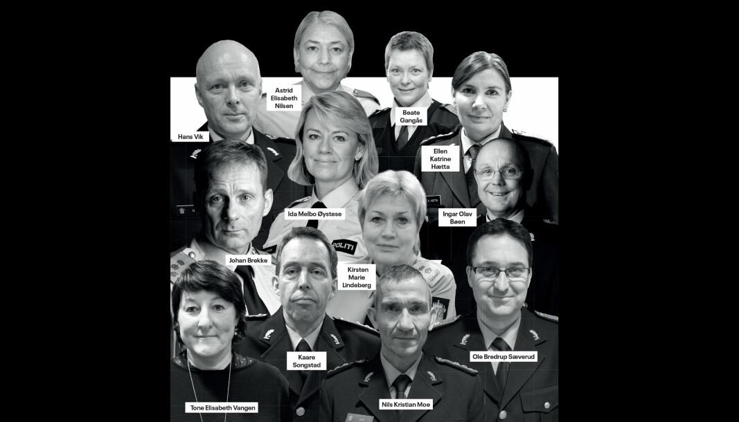 Dette var politimestrene i Norge ved inngangen til 2020.