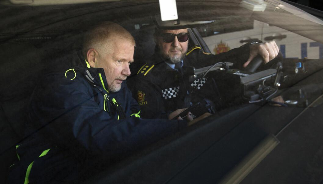 TOSPANN: Politioverbetjent Stig Tonsjø (til venstre) og hans nærmeste leder Tor-Håkon Fegri har kjent hverandre i mange år.