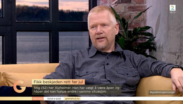 ÅPENHET: – Jeg har et stort ønske og behov for å fronte åpenhet, og ser for meg muligheten til å hjelpe andre i tilsvarende situasjon, sier Tonsjø om hvorfor han fortalte sin historie på God Morgen Norge på TV2.