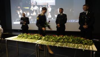 Roseseremoni under markeringen i Bodø.