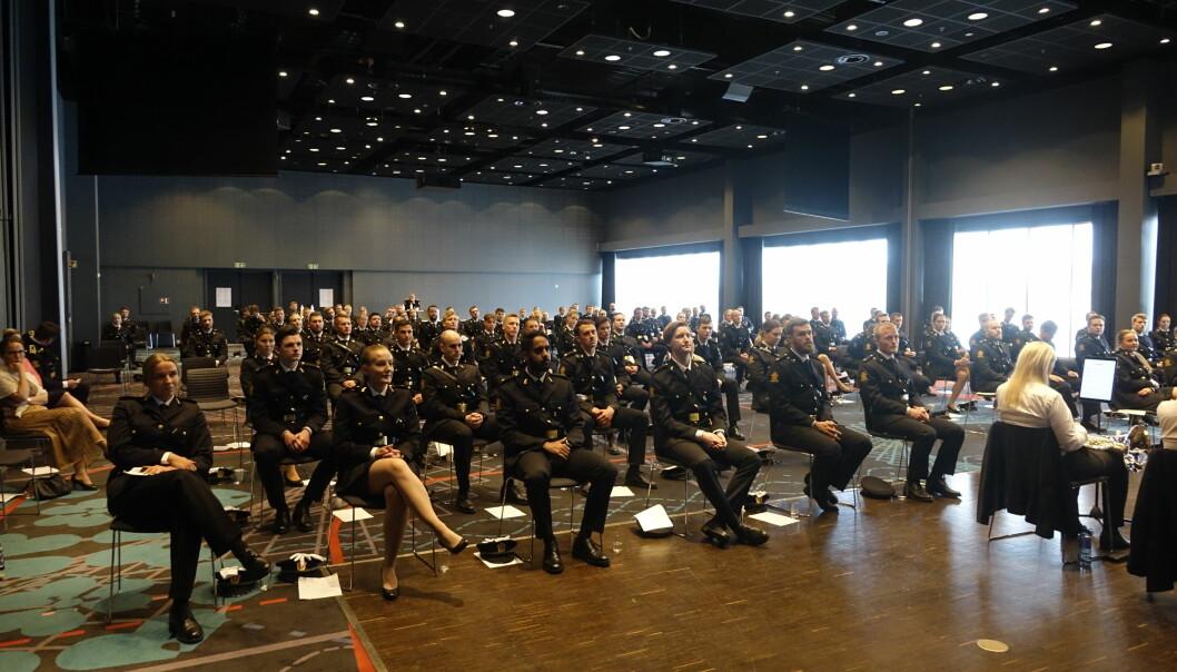 Politistudentene i Bodø kunne samles innendørs, siden smittetrykket i byen har holdt seg lavt den siste tiden.
