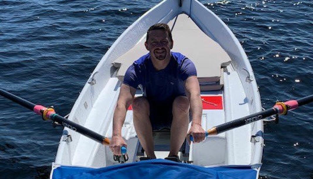 Krimvaktleder Steinar Haakonseth er klar for å ro til Frankrike i sin egen oppussede båt.
