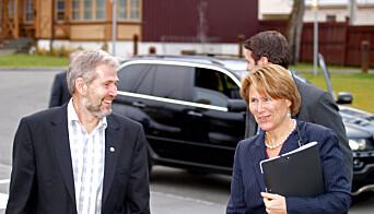 Arne Johannessen og Grete Faremo.