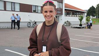 STOD PÅ VENTELISTE: 21-år gamle Thuva Christine er godt fornøy med å begynne på politiutdanningen