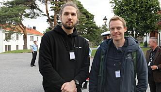 VIL JOBBE MED MENNESKER: Både politistudent Kostas og Markus har høye forventninger til studiet.