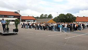 Under sin tale på åpningsseremonien ønskt assisterende rektor Tor Tanke Holm de nye politistudentene ved Stavern velkomne.