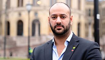 Farid Shariati, sosialpolitisk talsperson i Miljøpartiet de grønne.