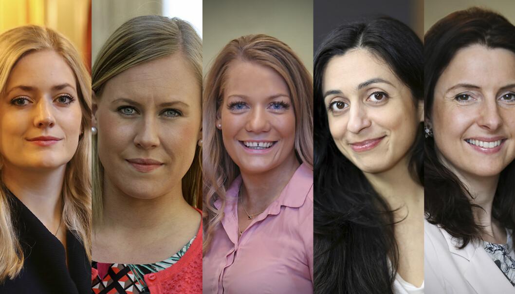 Emilie Enger Mehl (Sp), Lene Vågslid (Ap), Sandra Borch (Sp), Hadia Tajik (Ap) og Jenny Klinge (Sp) blir alle sett på som mulige justisministerkandidater.