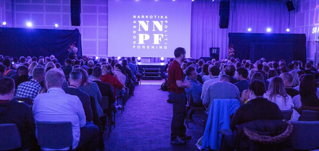 Slik så det ut da Norsk Narkotikapolitiforening arrangerte sin utdanningskonferanse i 2019.