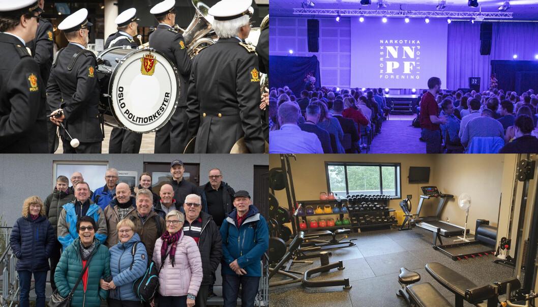 Oslo politiorkester, Norsk Narkotikapolitiforening, Politiets Pensjonistforbund Finnmark og Telemark politiidrettslag er blant organisasjonene som har mottatt økonomisk støtte fra politiet.
