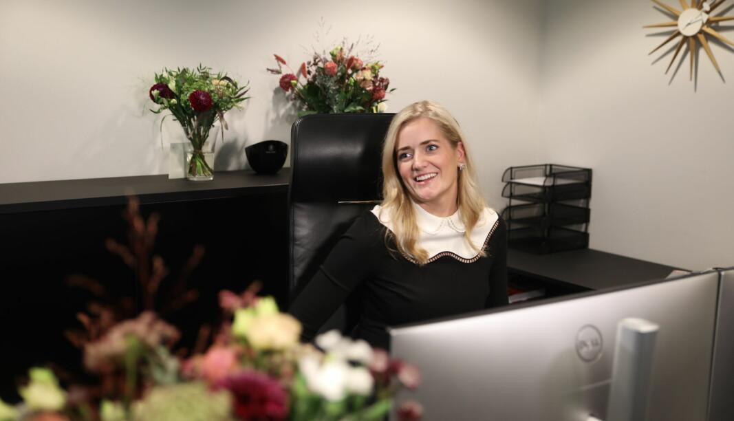 Emilie Enger Mehl (Sp) tok over jobben som justisminister, etter Monica Mæland (H).